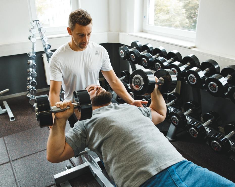 Krafttraining mit Personal Trainer